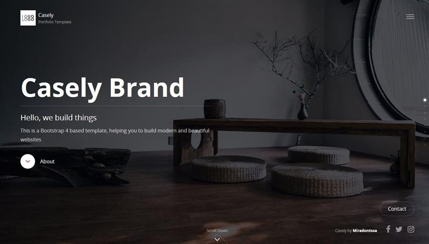 Casely - Simple and Minimalist Portfolio A beautiful portfolio webpage. Trendy design and mobile-ready.